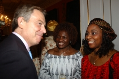 Mrs Obichukwu with former Enfield Mayor and Former UK Prime Minister